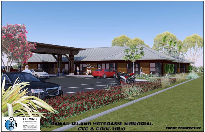 2017 latest revised design update for the CBOC/CVC perspective view and site plan for our lower lot in Hilo
